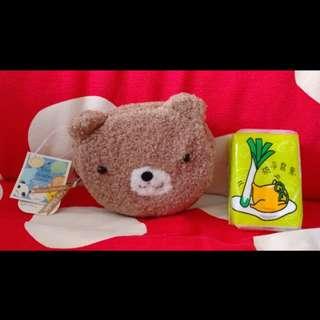 可愛小熊 拉錬銀包 Bear coins bag wallet