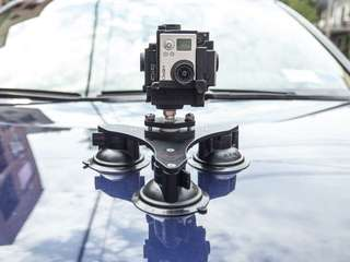 TRIPLE SUCTION CUP FOR GOPRO HERO 5 Black gopro hero 6 black