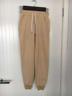 Tan Beige Coloured Jogger Pants