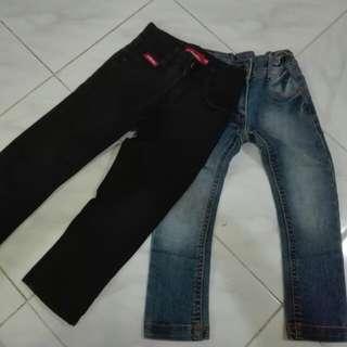 Jeans 2 helai 4-5thn