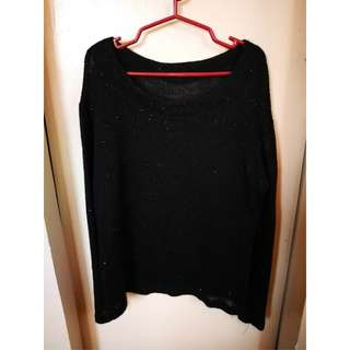 Black Knitted Long sleeve
