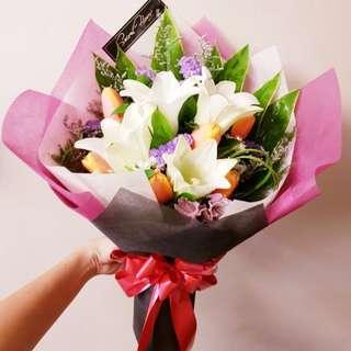 Lily & Tulip Bouquet