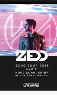 Zedd echo tour E-tickets x2