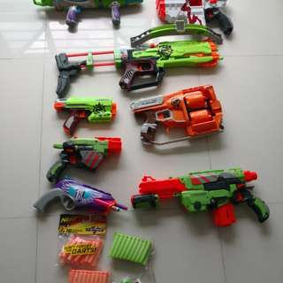 Nerf guns for sale as a package