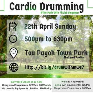 Cardio drumming in the Park