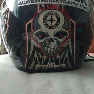 Xdot Skull Helmet w Double Visor