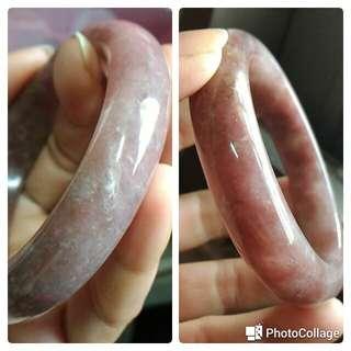 手圍18  天然紫草莓晶手鐲