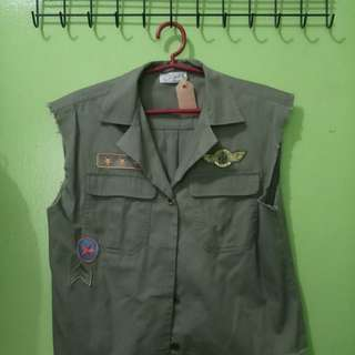 Army style top