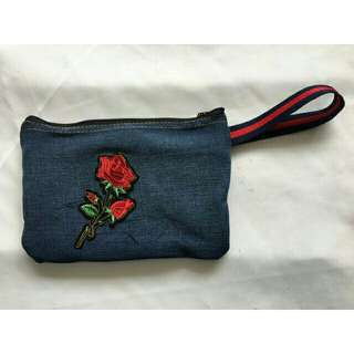 Denim pouch for women