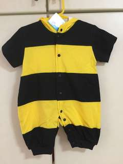 Cute baby romper yellow bumble bee (New)