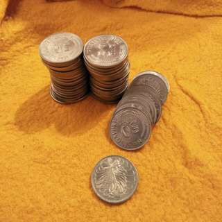 Sg 50¢ Old Coins  50pc x 0.90¢