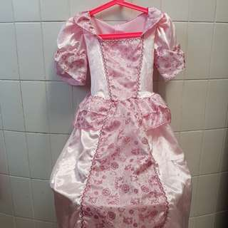 Victorian pink dress up with can can