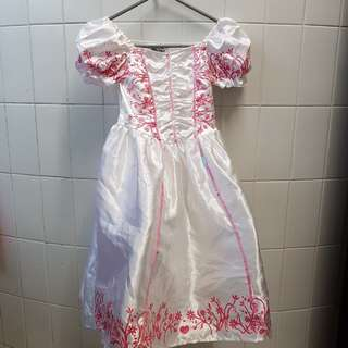 White dress with cancan