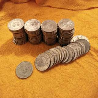 Sg old 50¢ coin 100pc x0.80¢