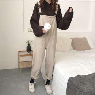 吊帶褲(淺咖啡)📍已賣出