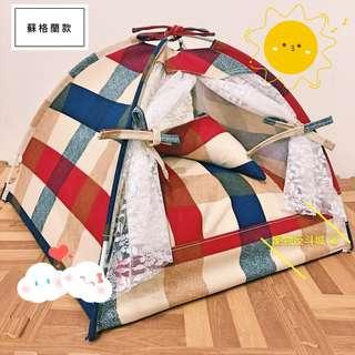 [2018新款]XL號 蘇格蘭款 寵物帳篷/睡窩