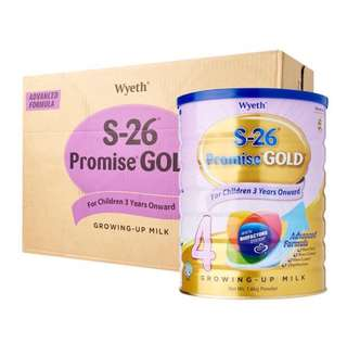 Wyeth S-26 Promise Gold Stage 4 1.6kg X 6tins [carton sale]
