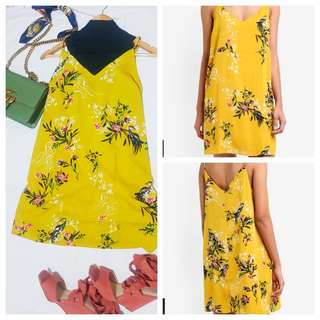 New Cotton On Slip Cami Dress Yellow Floral Multiple Sizes Available!