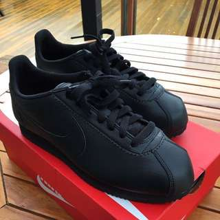 Women's Black Nike Cortez