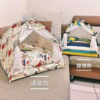 [2018新款]XL號 線條款/蘇格蘭款 寵物帳篷/睡窩/寵物床