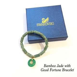Bamboo Jade with Good Fortune Bracelet