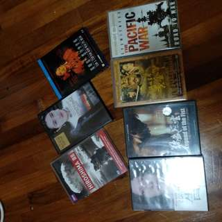 DVDs- Farewell My Concubine,  Curse of Golden Flower,  Legend of Fist Donnie Yen, Shanghai Triad,  Documentaries on Hiroshima and Pacific War and One Japanese Horror