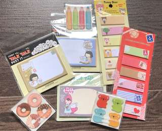 Cute small notepads/memo/post-it for kids birthday parties/children day gifts