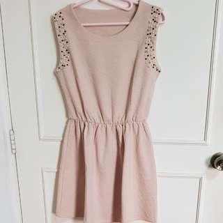 Blush pink beaded dress
