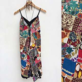 Thai Patchwork Cami Midi Dress