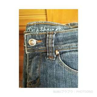 水鑽扣牛仔褲