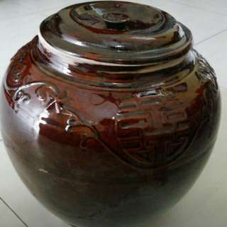 Vintage Big Ginger Jar with lid