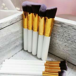 Kabuki Makeup Brushes -white gold