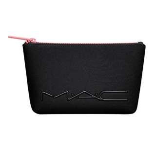 MAC 化妝包收納包 黑X粉紅 現貨一個