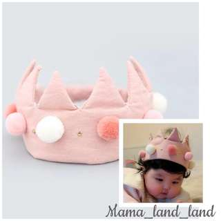 Super cute baby pink party crown 👑