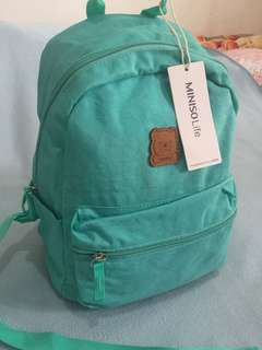 Miniso green small backpack