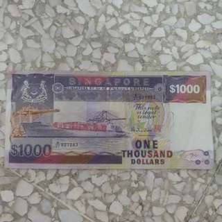 Ship Series $1000 Currency Note
