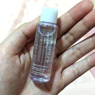 BN Shu Uemura blanc:chroma gentle cleansing oil 15ml sample