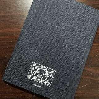 EVISU 牛仔布 筆記簿套