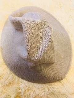 🚚 霧霾藍針織造型帽