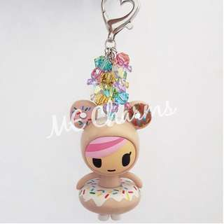 Tokidoki Donutella And Her Sweet Friends Series Donutella Swarovski Crystals Bag Charms / Fobs
