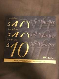 $30 Kinokuniya Voucher