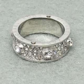 Michael Kors Sample Ring 銀色閃石戒指size US 7 直徑1.7 cm