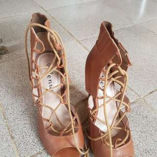 Venus Heels in Brown (gladiator)