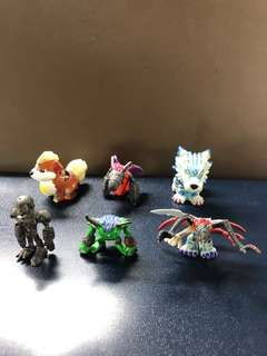 Pokémon/Digimon Figurines Collection to clear: cute, medium Sze, About 3 to 5cm Tall, $1 Each, Lot B