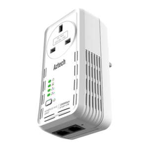 Aztech HL129EP 1200Mbps AV2 HomePlug with AC Pass Through