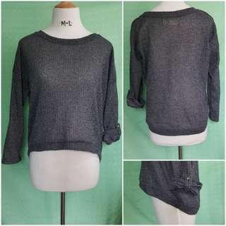 Mesh Long sleeve blouse