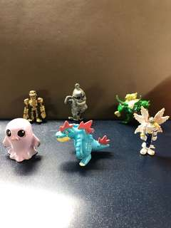 Pokémon/Digimon Figurines Collection to clear: cute, medium Sze, About 3 to 5cm Tall, $1 Each, Lot D