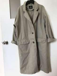 墨綠西裝外套大口袋西裝外套韓風🇰🇷長版外套春秋裝