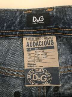Men's D&G size 30 distressed jeans