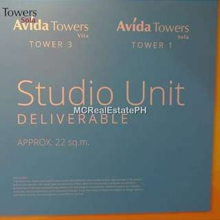 CONDO for SALE in QC Area - STUDIO UNIT @ Vertis North - Avida Towers Sola (Studio Unit)
